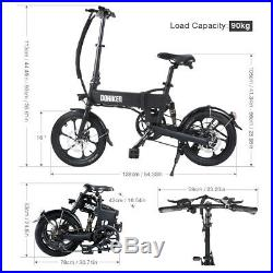 16 Smart Folding Electric Bicycle CITY E-Bike 250W Motors 25KM/H Aluminum Moped
