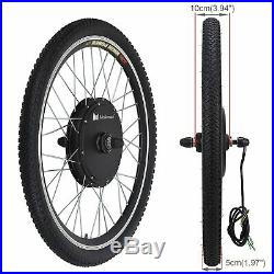 26 1000W Electric Bicycle Motor Conversion Kit Bike Front Wheel Cycling Hub 48V