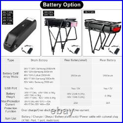 48V 750W BAFANG BBS02 Mid Drive Motor Electric Bike Conversion Kits With Battery