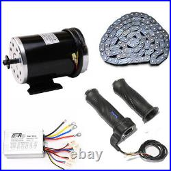 48V DC 1000W Chain Drive Brush Electric Motor Kit for Scooter Bicycle Reversible