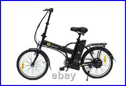 Electric Bike EBike Cycle Fly Foldable 250W Motor Bicycle Black Steel