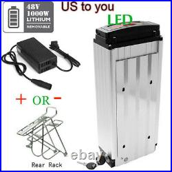 US Li-ion Ebike Battery 48V 20AH For Max 1500W Motor Electric Bicycle + Charger